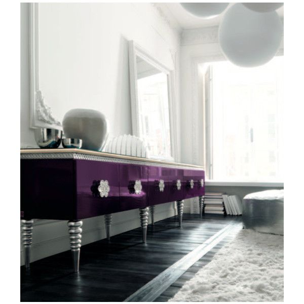 Purple Sideboard by Altamoda - eclectic - hall - london - by Imagine... ❤ liked on Polyvore
