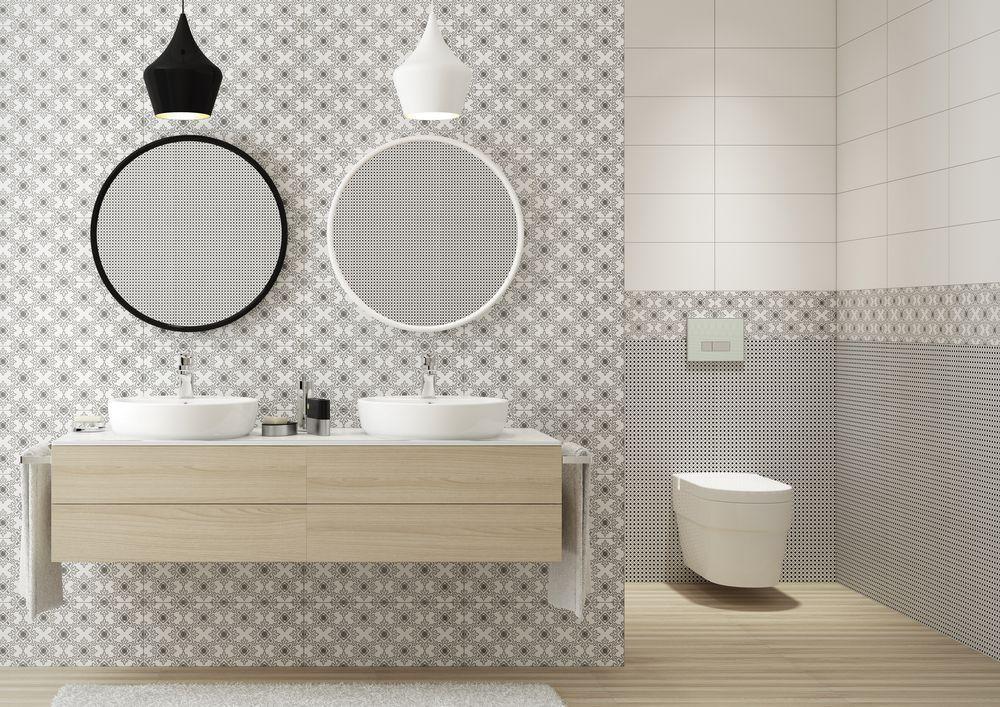 Glazura Dream Bathroom Modern Minimalist Small Bathrooms Round Mirror Bathroom