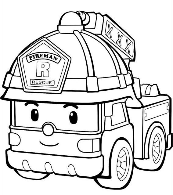 Fire Truck Coloring Pages For Toddlers With Images