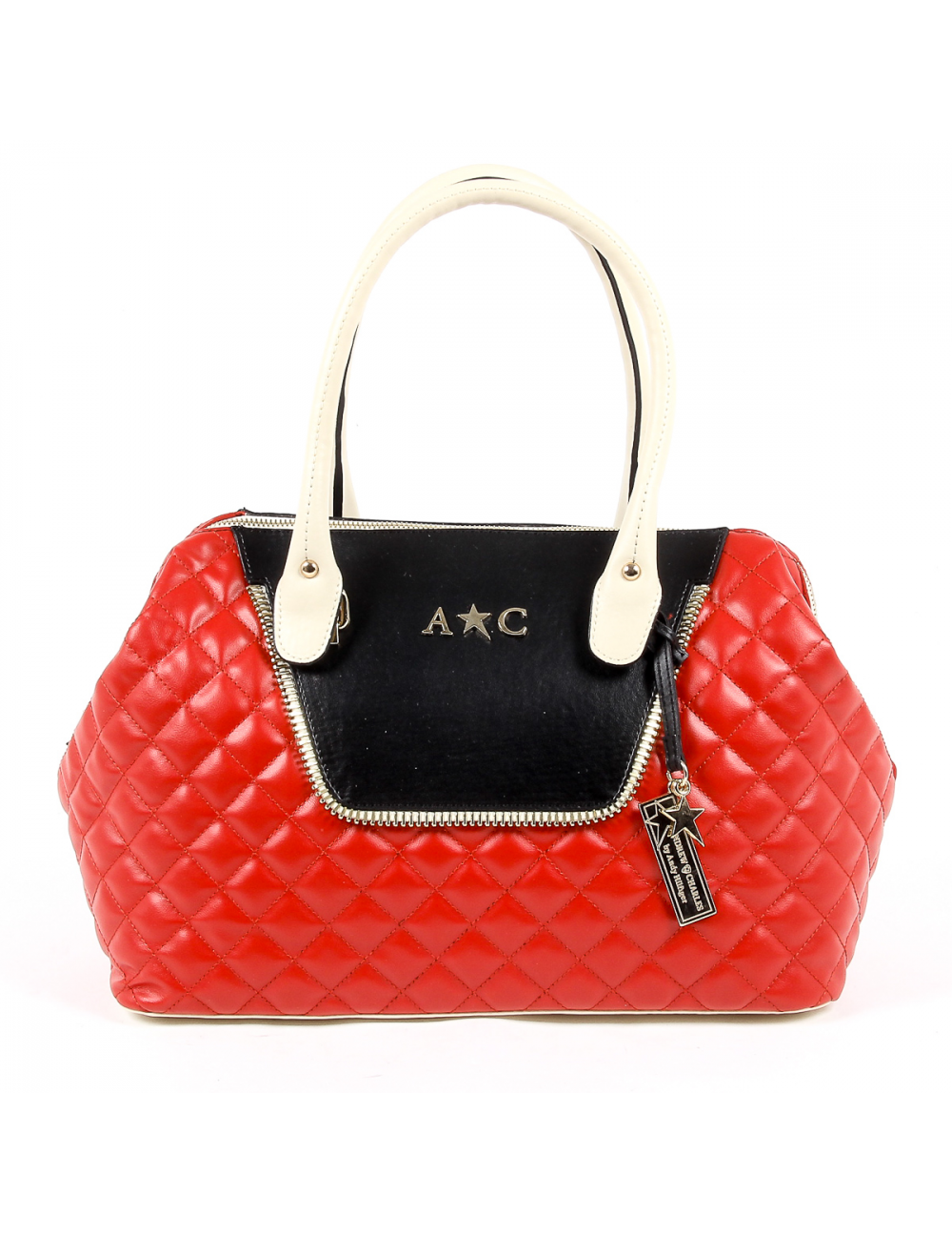 Andrew Charles Womens Handbag Red Dalya One Size