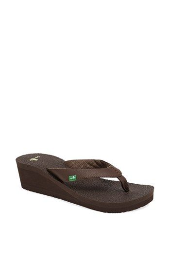 d1b64107db3a Sanuk  Yoga Mat  Wedge Flip Flop (Women) available at  Nordstrom ...