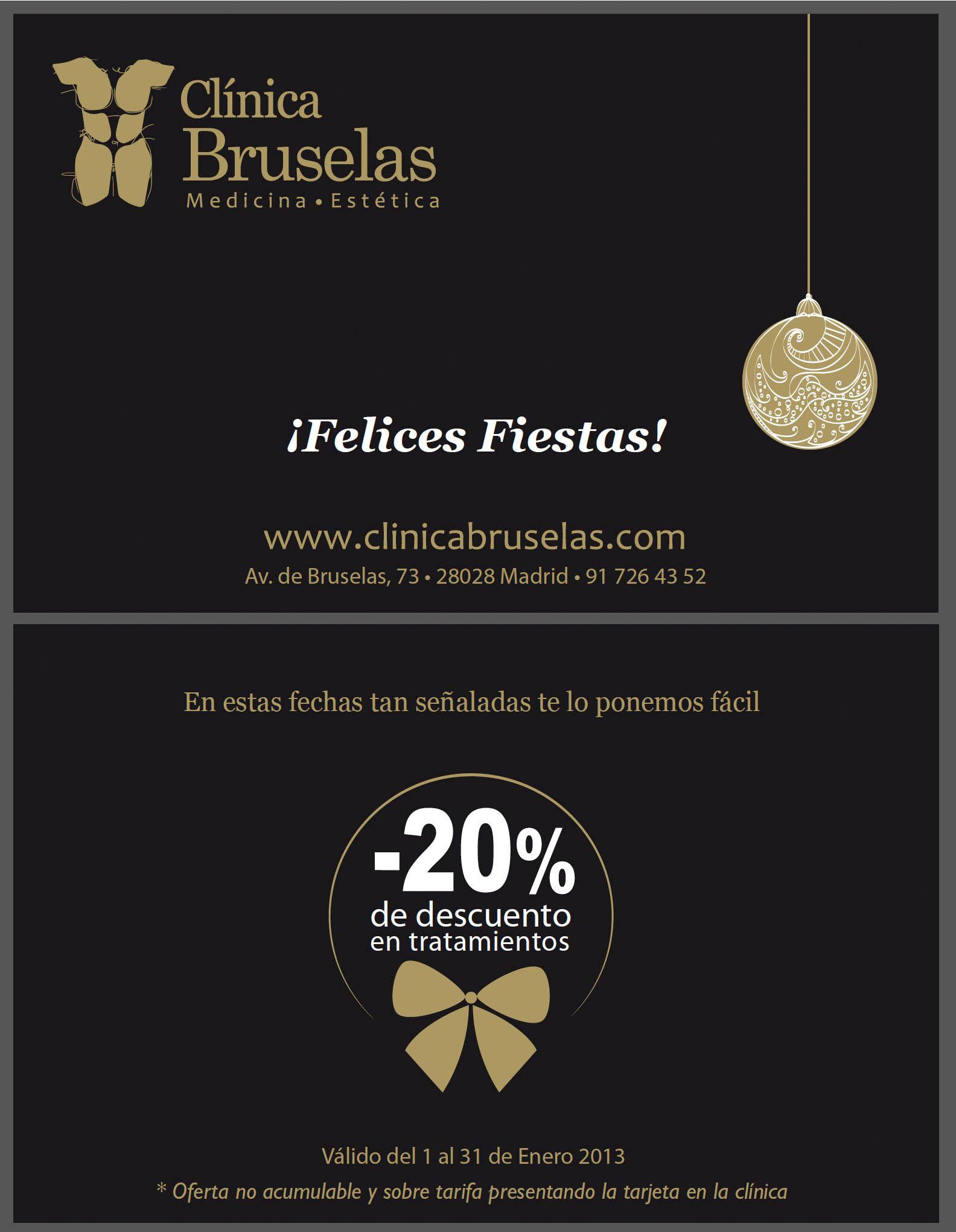 Tarjetas regalo para Clinicas Bruselas