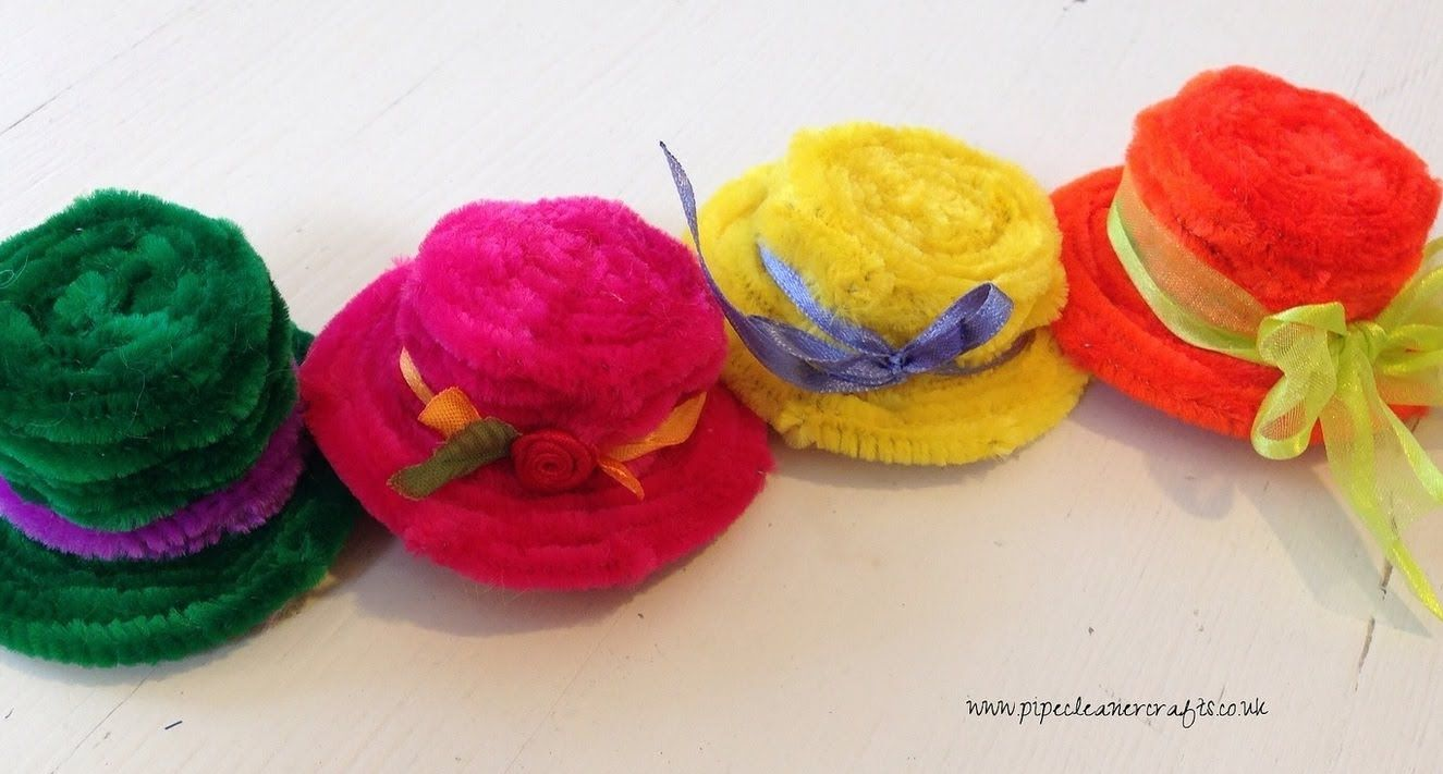 Uncategorized Things To Make With Pipe Cleaners how to make pipe cleaner hats group craft board and things little tutorial kids crafts