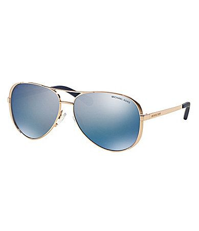 a2c9c3fdcff Michael Kors Chelsea Polarized Aviator Sunglasses  Dillards ...