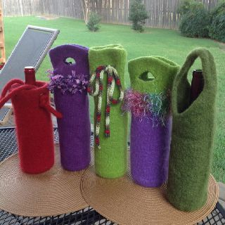 Wine Bottle Koozies  Great gift idea.  Custom made.   Contact Carol at ckenned2@me.com