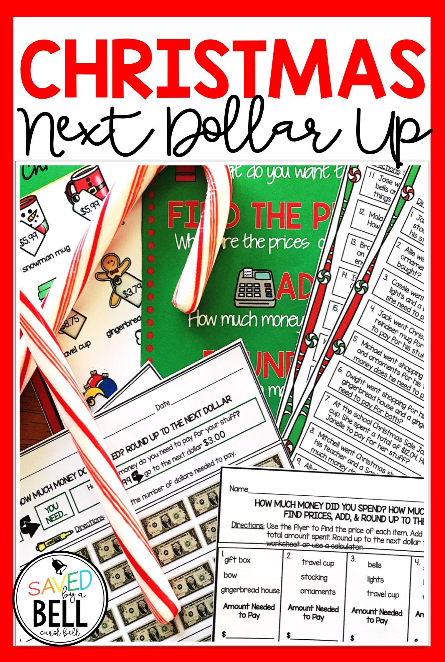 Christmas Next Dollar Up Worksheets