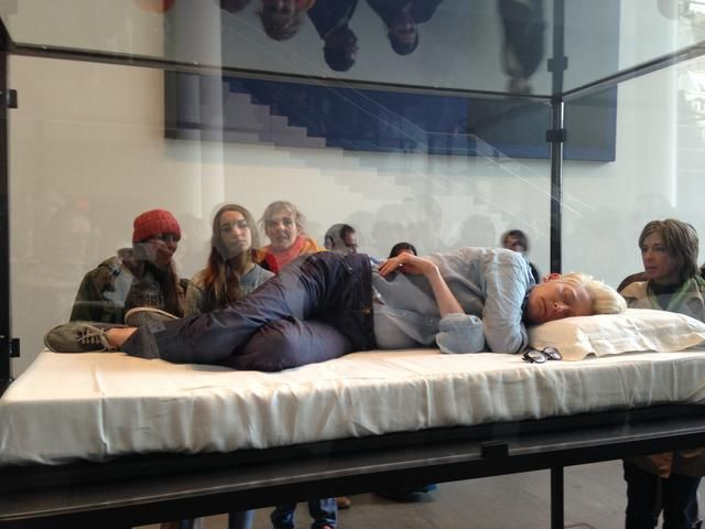"""Is She Medicated?"": MoMA Visitors Delightfully Surprised By Tilda Swinton Sleeping In A Box: Gothamist"