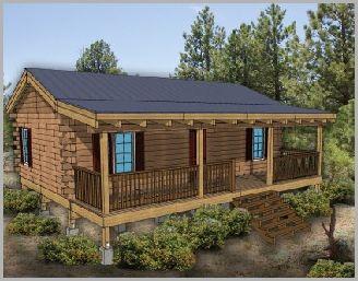 House · Hunting Cabin Kits 16x36 570sqft