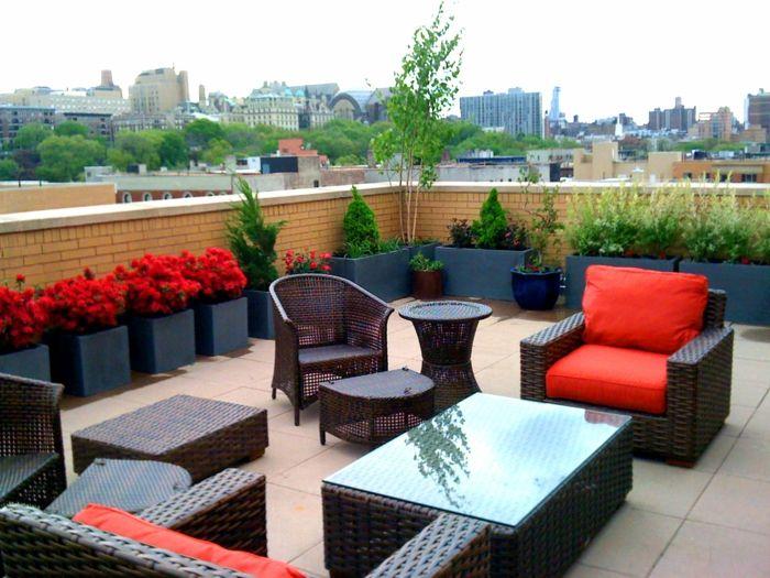 terrasse blumen gestalten m belideen. Black Bedroom Furniture Sets. Home Design Ideas