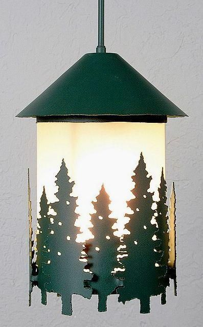 Vista Pine Tree Ext Hanging Lantern