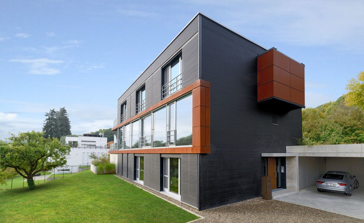 Holzfassade Schwarz öko designhaus pawliczec baufritz architektenhaus bauen