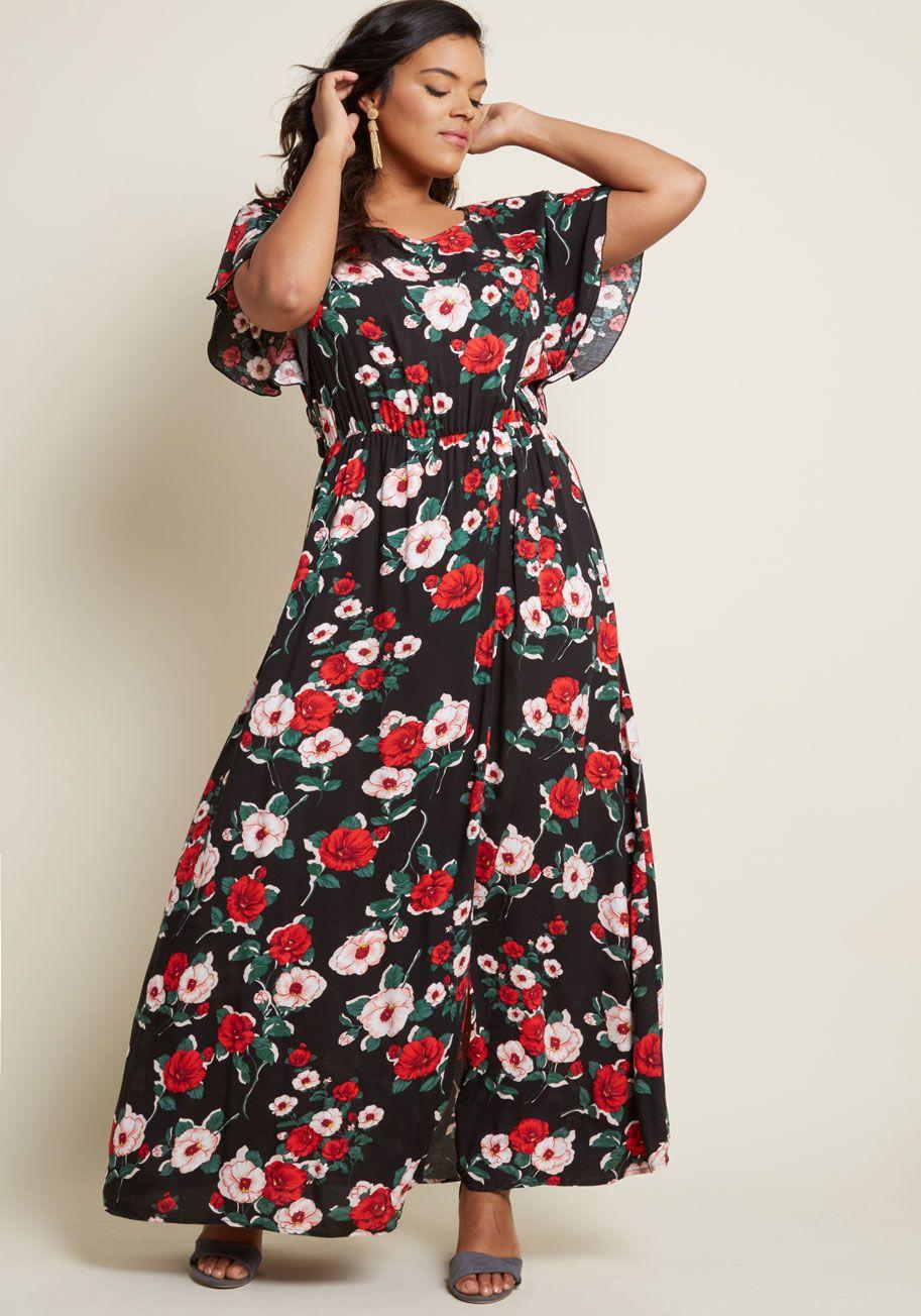 Inspired Spirit Floral Maxi Dress June wedding guest