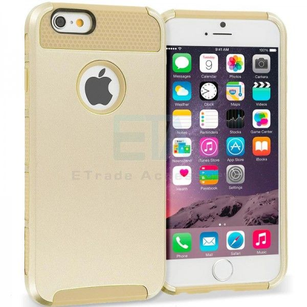 Shockproof Hybrid Hard TPU Honeycomb Rugged #Case Cover for Apple iPhone 6 & 6 Plus & 6s & 6s Plus - Gold with graet prices-$15.95 Buy 2 for $13.95 each and save 13% Buy 4 for $12.95 each and save 19% #iPhoneMetaCase  http://goo.gl/j5thuI