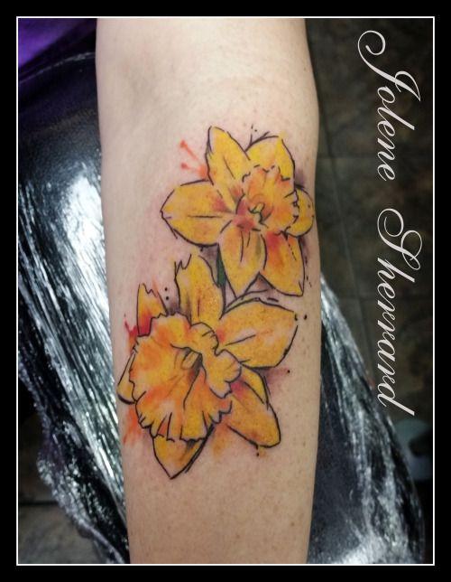 Adorned Tattoo Daffodil Tattoo Daffodil Flower Tattoos Hummingbird Flower Tattoos