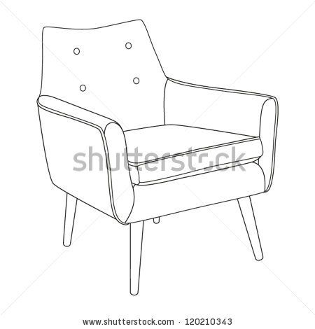Classic Chair Outline Chair Icon Vector Illustration Stock Vector Classic Chair Chair Outdoor Chairs