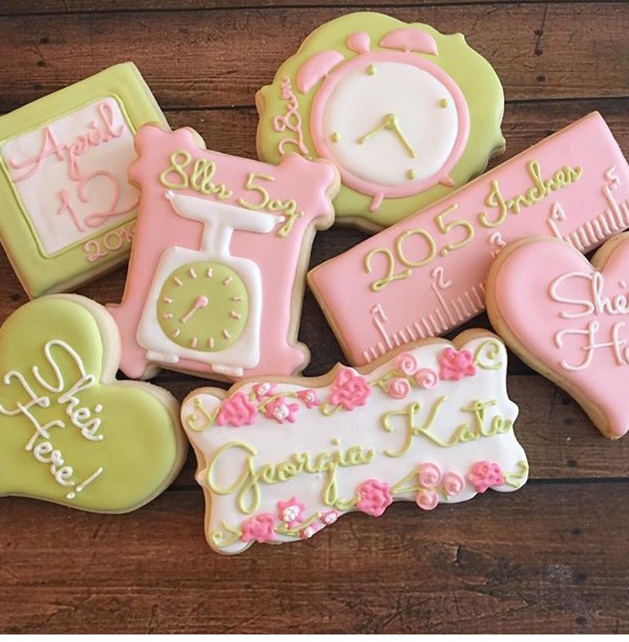 New baby arrival cookies | Cookie recipe | Pinterest | Baby arrival ...