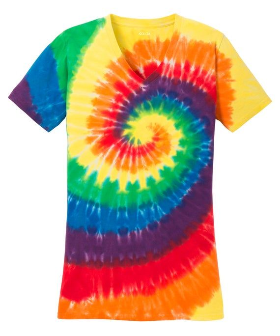 Sizes Koloa Surf Co S-4XL Colorful Tie-Dye T-Shirts in 17 Colors