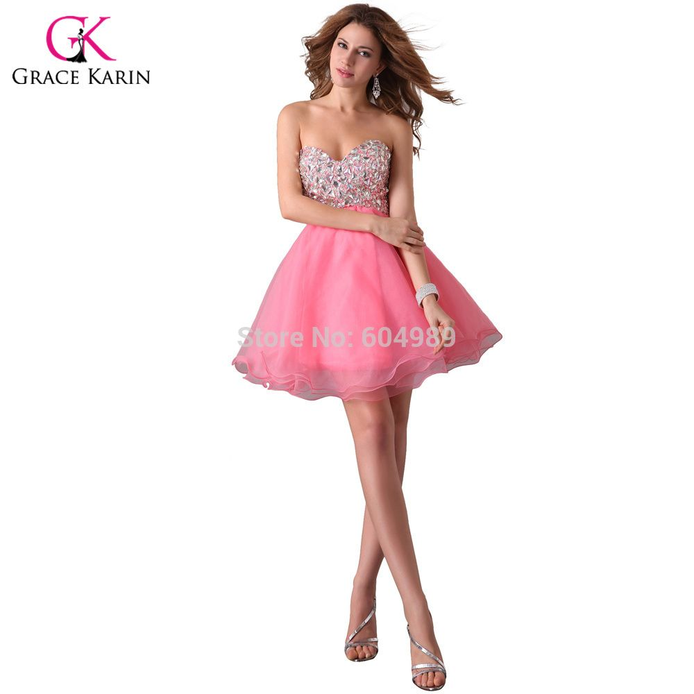sies 2-16 pink purple or black Grace Karin rhinestone Black/Pink ...