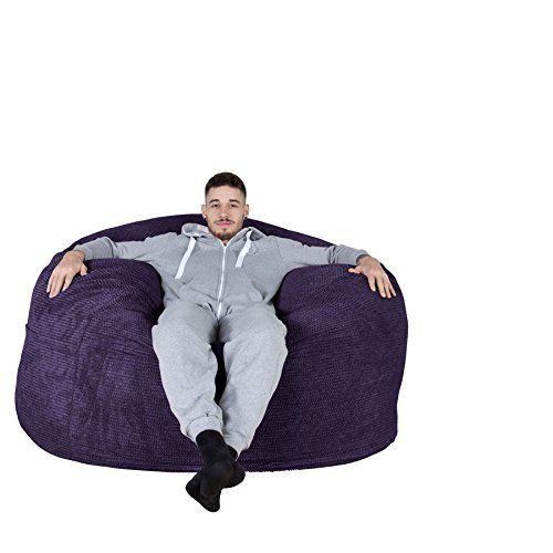 LOUNGE PUG - Pom Pom - CLOUDSAC - Huge Memory Foam GIANT Bean Bag SOFA - 453053d26283b