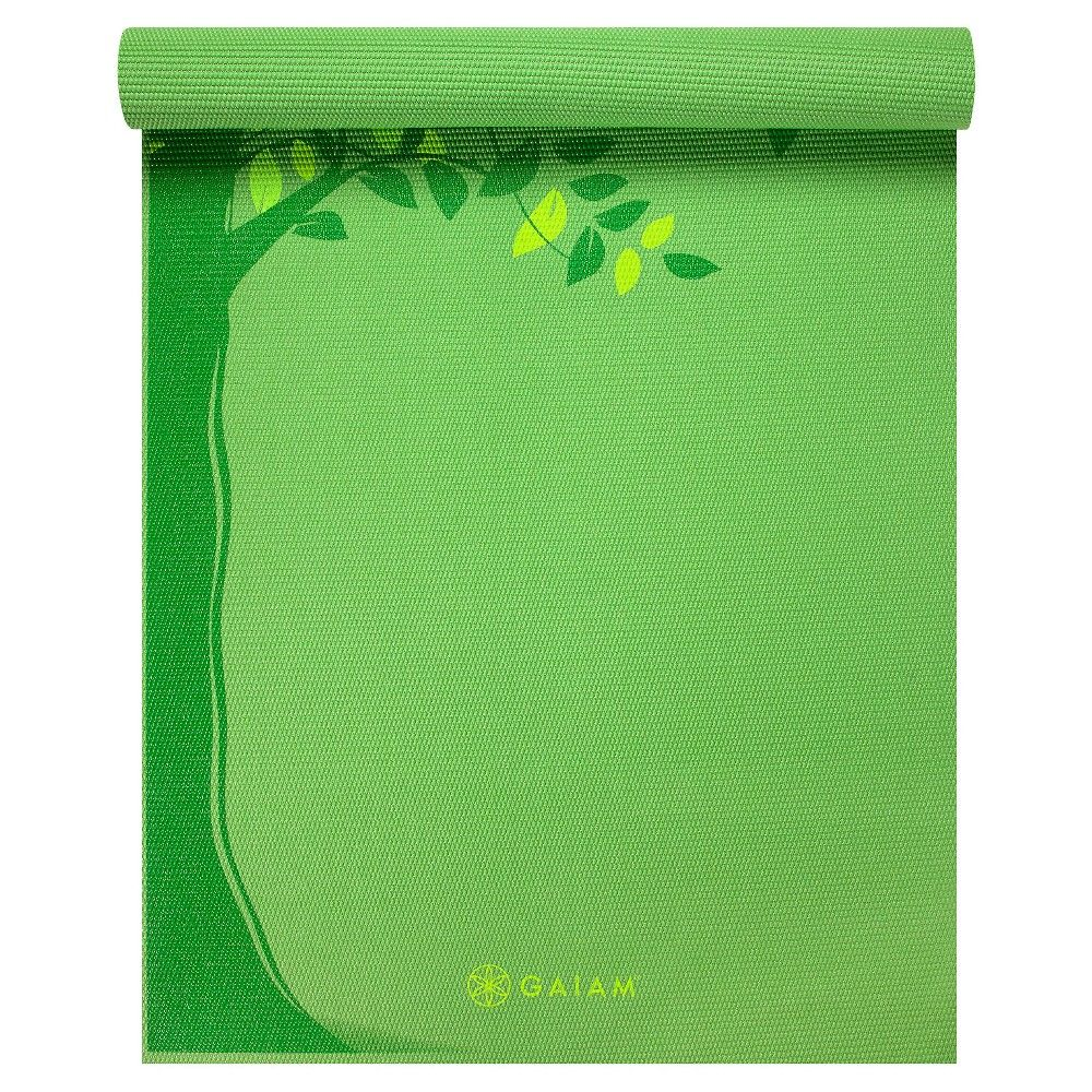 Gaiam Yoga Mat - Green Spring Tree (3mm), Light Green