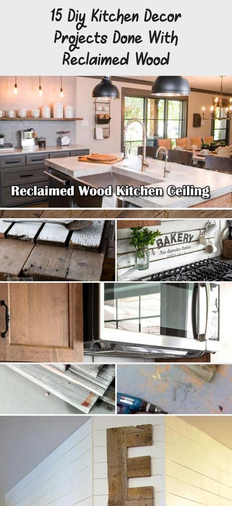 - 15 Diy Kitchen Decor Projects Done With Reclaimed Wood In 2020