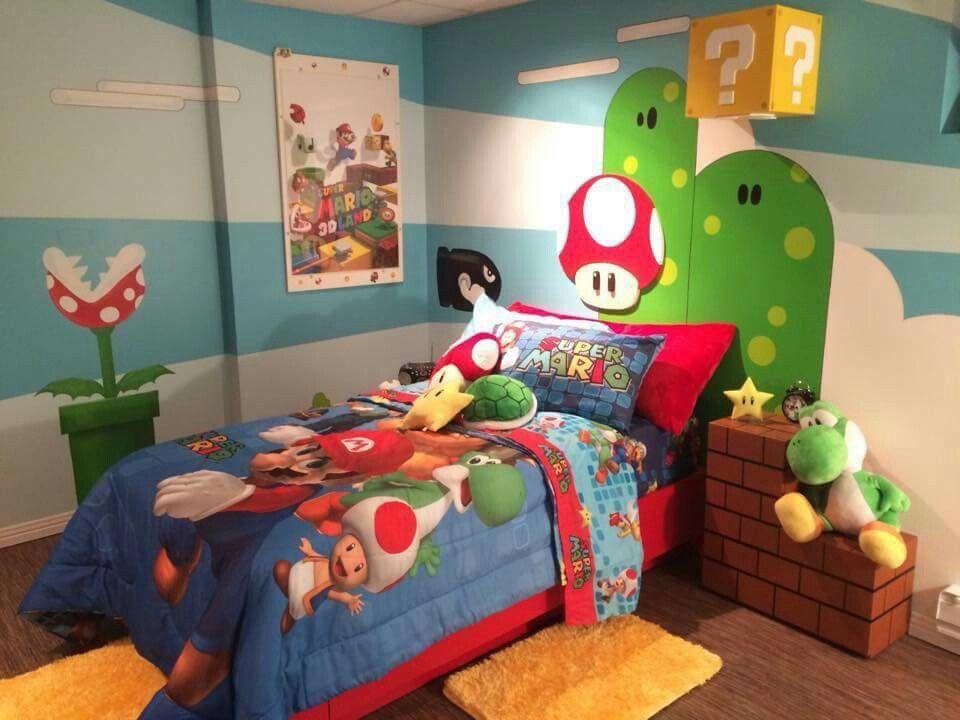 Chambre mario bros | Mario room, Boys bedroom decor, Super ...