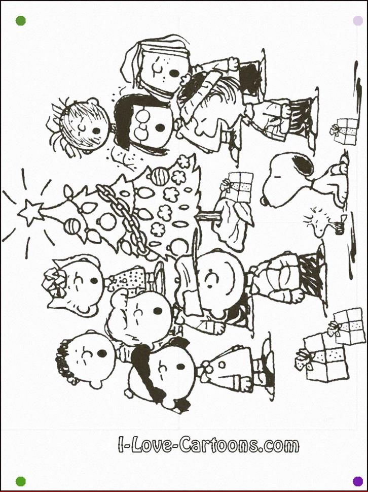 Charlie Brown Christmas Coloring Pages To Print Páginas