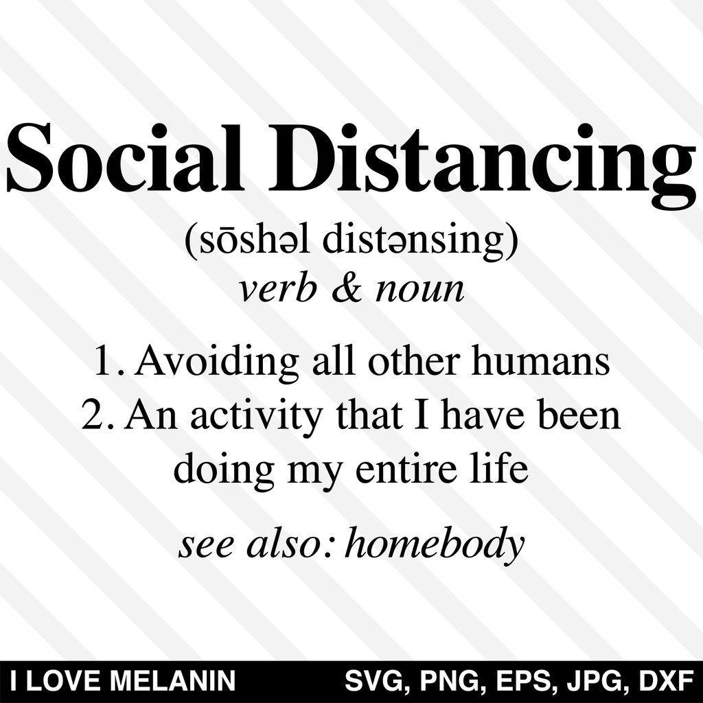 Social Distancing Definition SVG in 2020 How to make