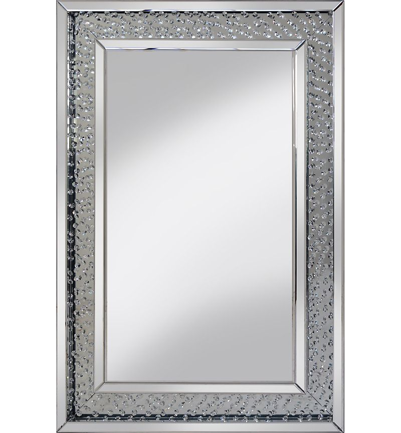 Large Floating Crystal Rectangle Mirror