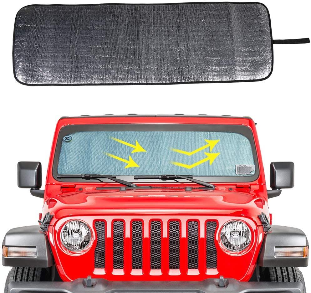 Pin On The Best Windshield Sun Shade For Jeep Jl Jt