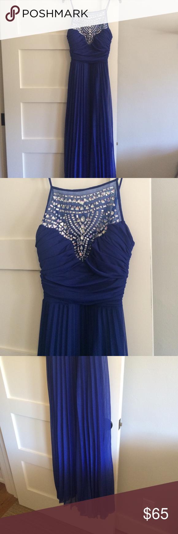 Blue prom dress b darlin formal gown