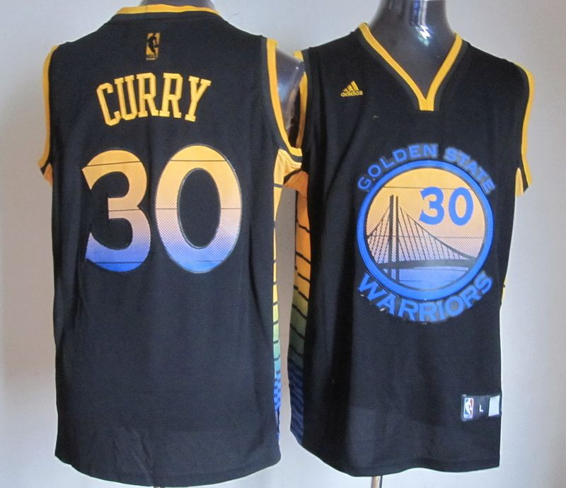 696fbd6ce41 Adidas NBA Golden State Warriors 30 Stephen Curry Black Color Swingman  Jersey