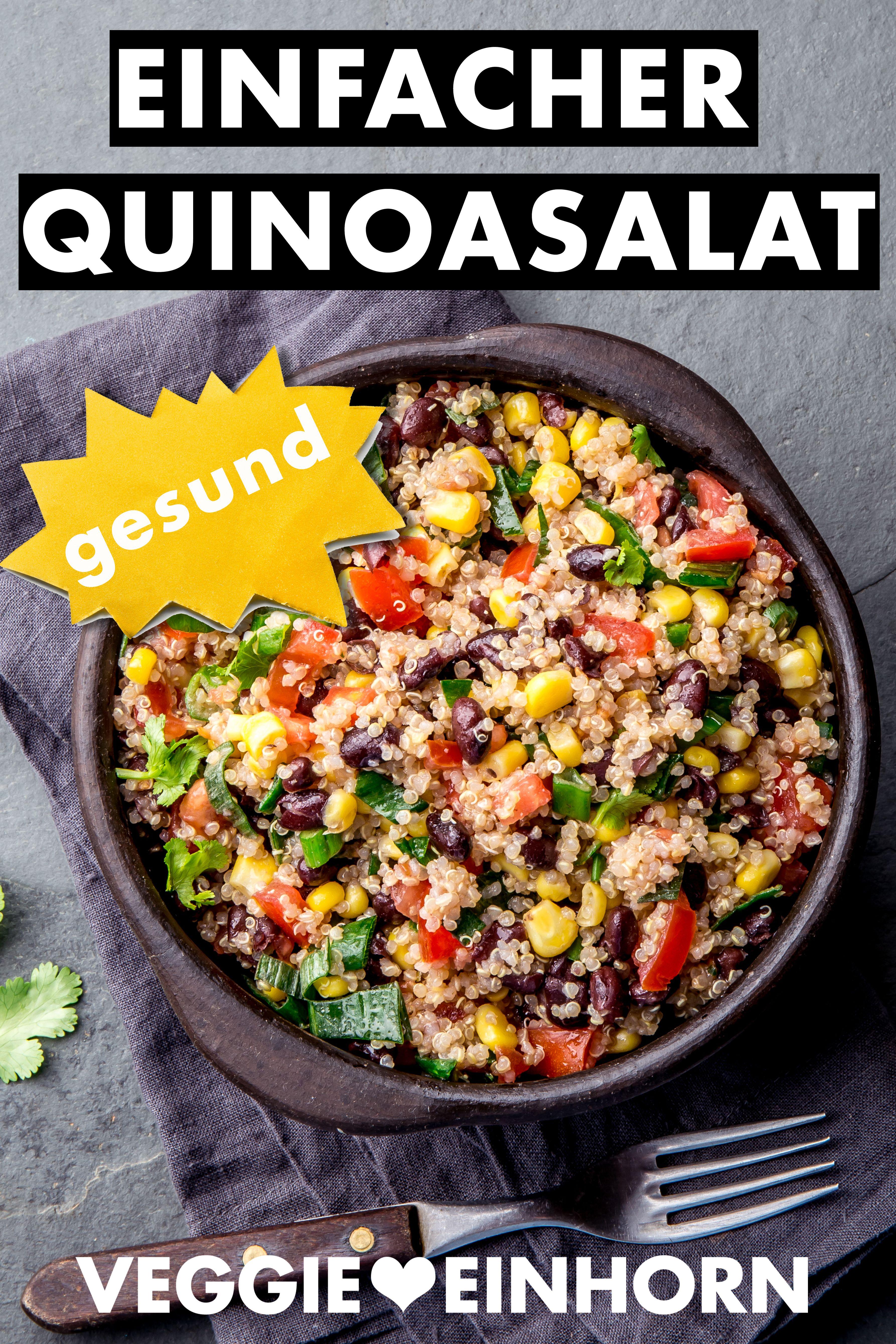Einfacher mexikanischer Quinoa Salat | Bunter vegetarischer Quinoasalat | Gesund und lecker