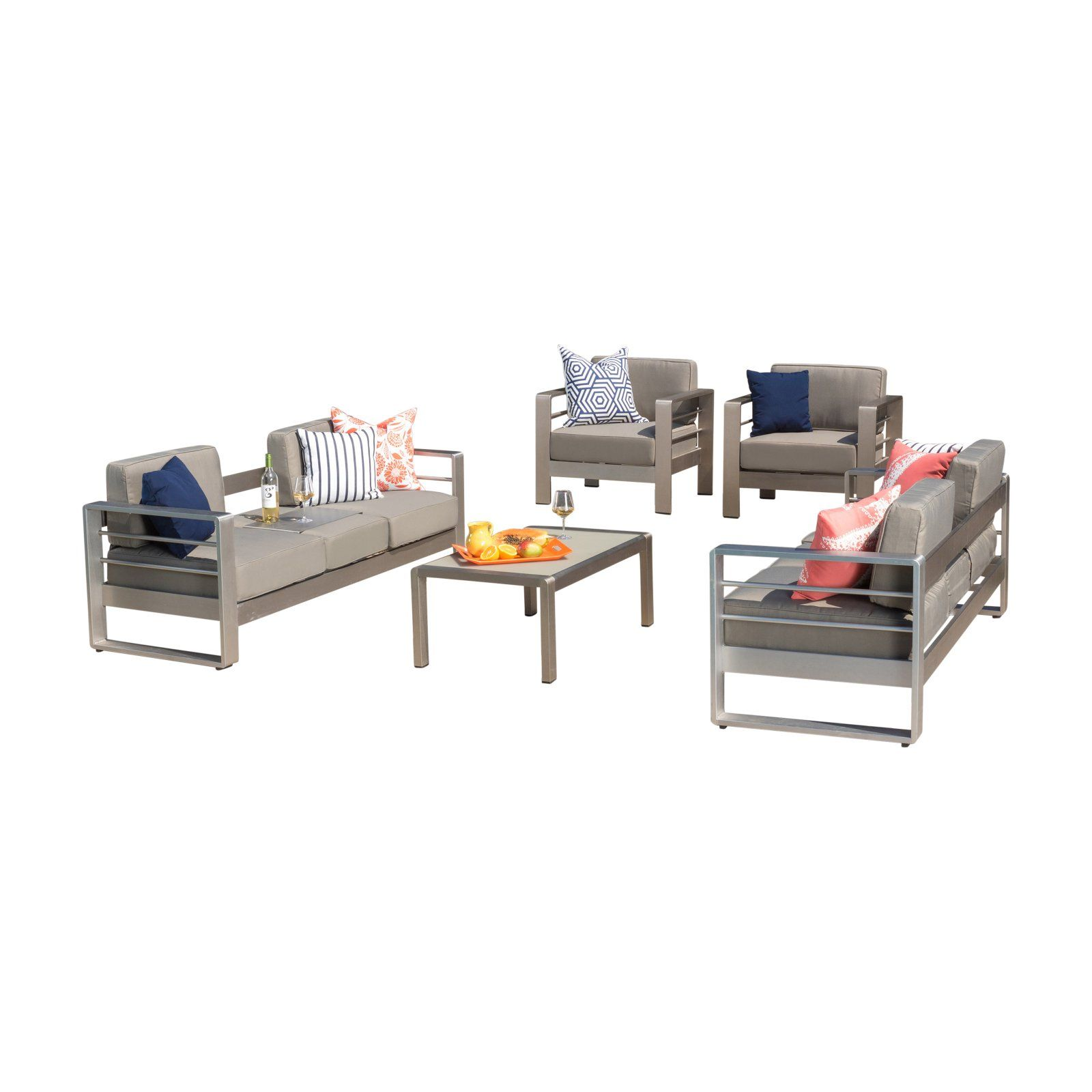 Outdoor Best Selling Home Cape Coral Aluminum 5 Piece Patio Conversation Set In 2019 Outdoor Furniture Sets Home Furniture