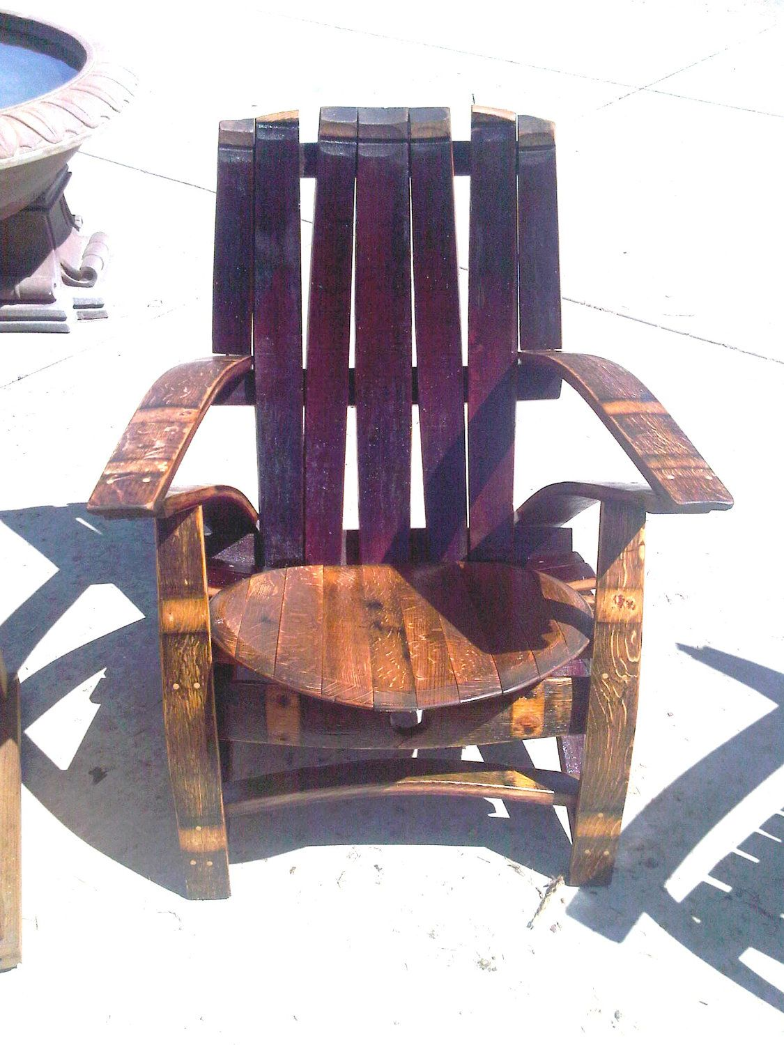 barrel stave adirondack chair plans bariatric commode wine adirondak fun things for the outdoors