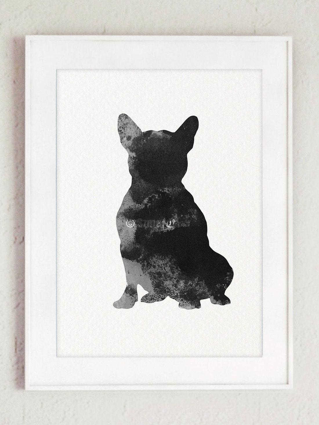 Frenchie Giclee Print, Dog Poster, French Bulldog