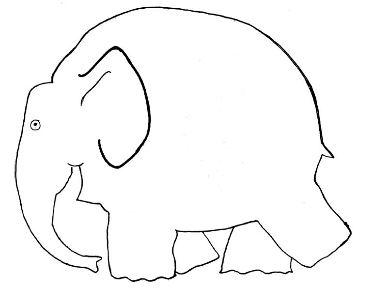 Klassenkunst Vorlage Elefant Elmar Pinterest Elefanten Elmar