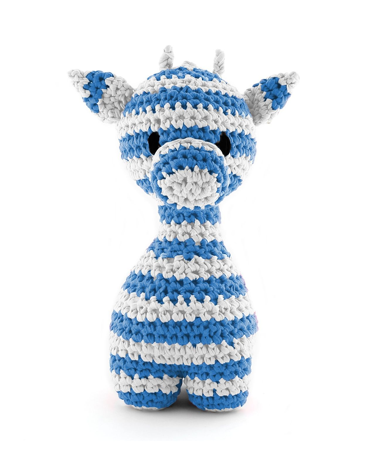 Hoooked Large Striped Ziggy Giraffe blue & grey amigurumi crochet kit & pattern #crochet #gift #cute #animal #craft