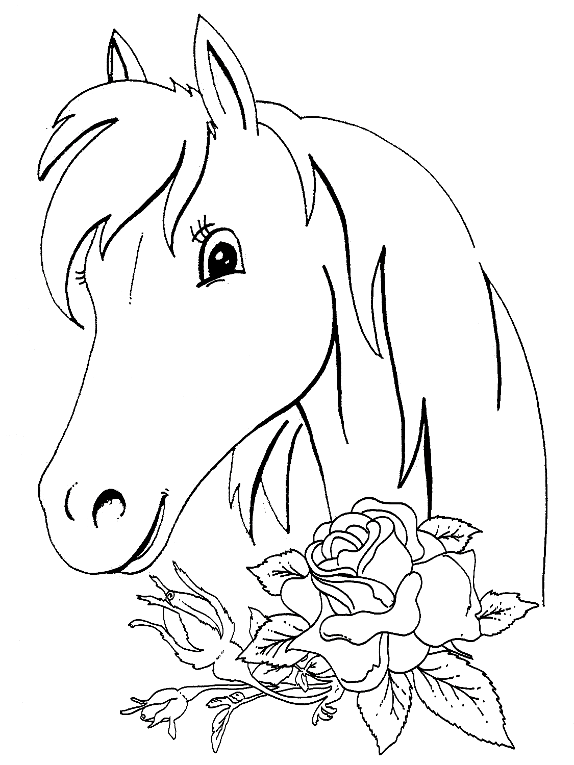 coloring book pages of horses-#43