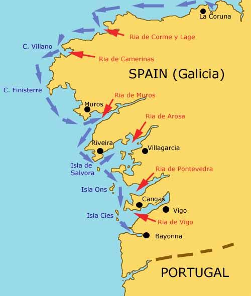 Passagemaking through the Rias Bajas of Galicia Northern Spain Spain
