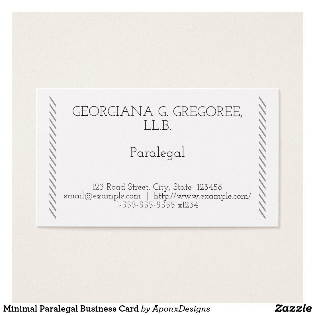 Minimal Paralegal Business Card | Customizable Business Card Designs ...