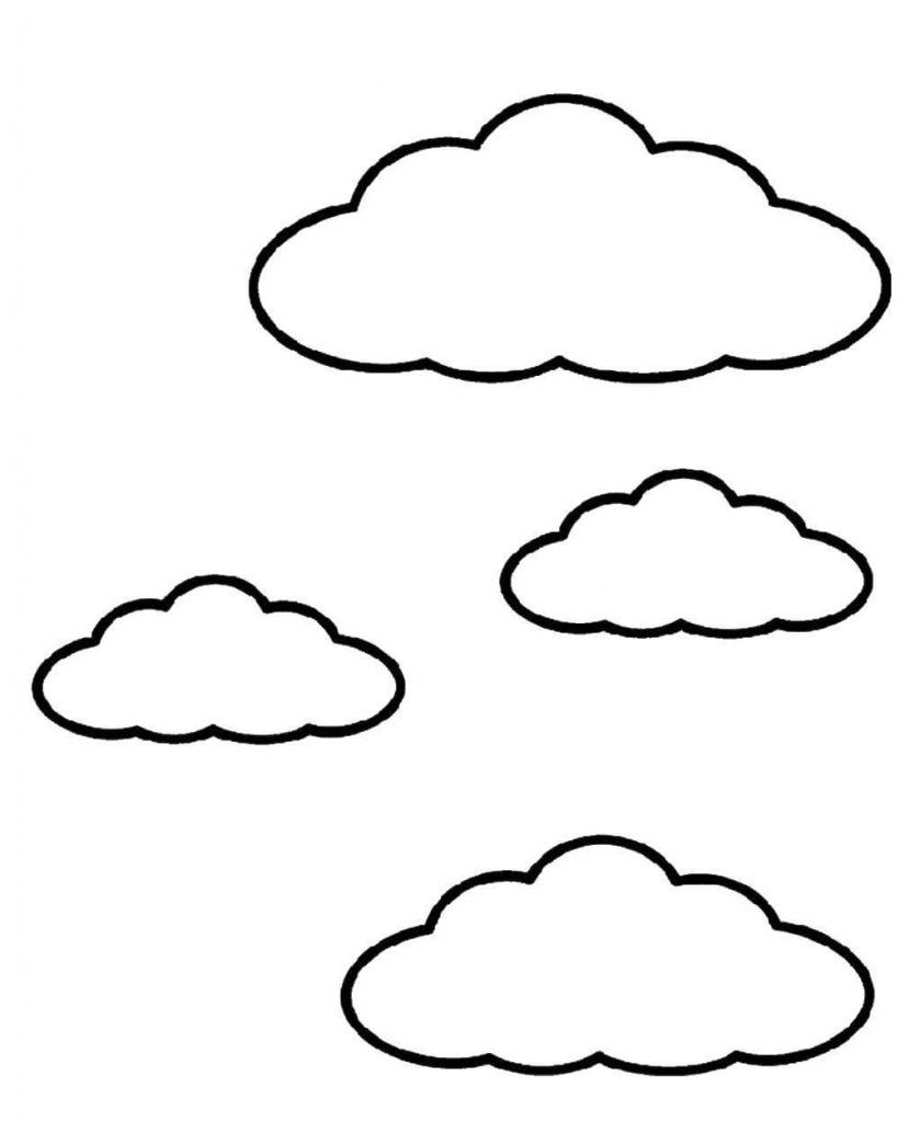 Cloud Coloring Page Toddlers Coloring Pages Color Clouds