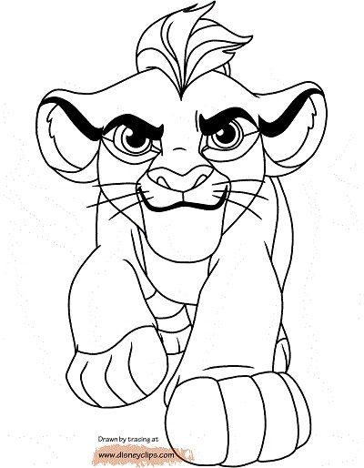 Dibujos La Guardia del Leon para colorear Kion  Fiesta kion