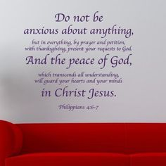 Philippians 4:6-7 religious wall decor | Divine Walls