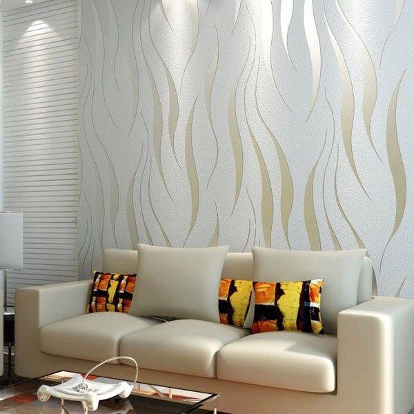 Memasang Wallpaper Wallpaper Dinding Ruang Tamu Kecil