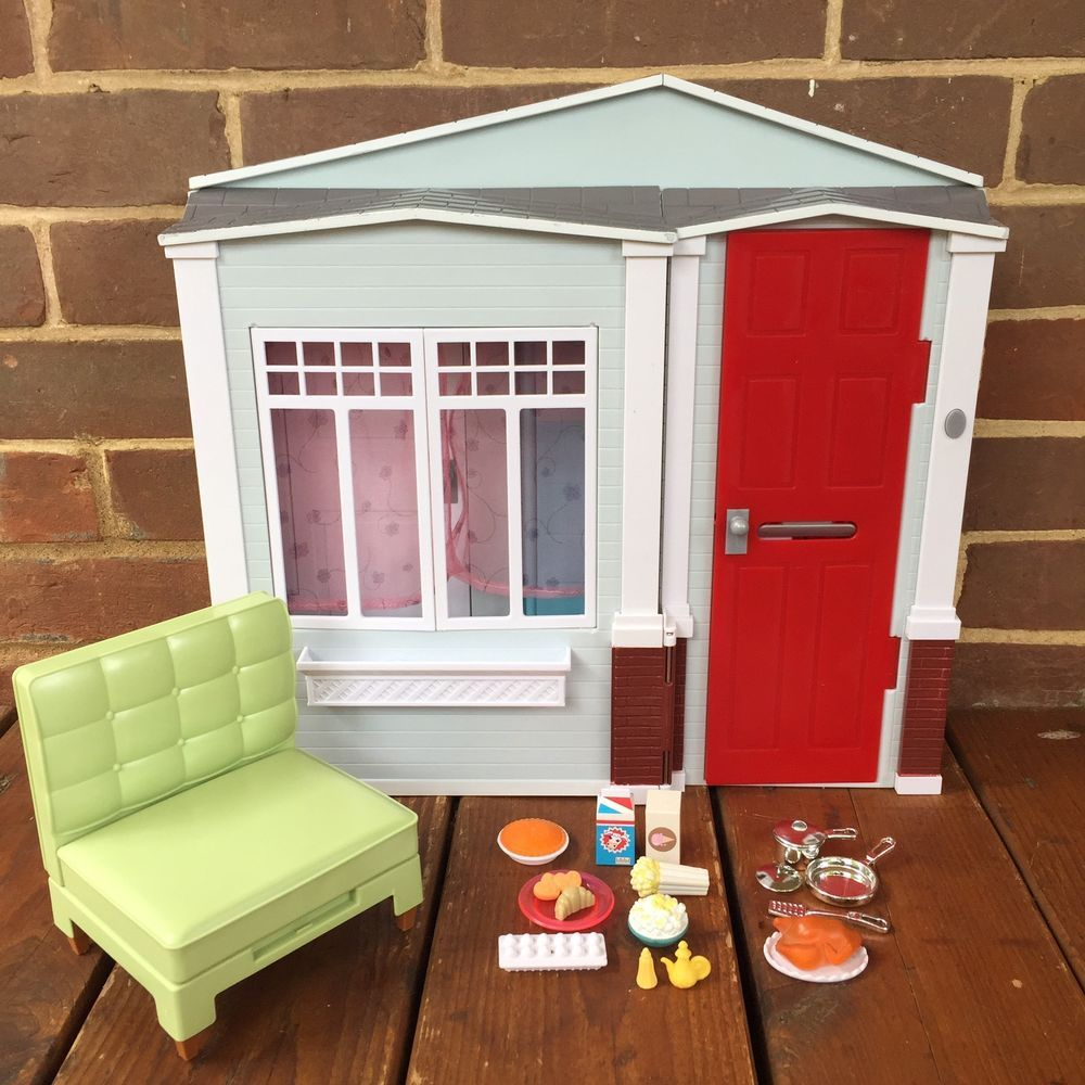 Barbie Küchenzubehör Barbie Mattel Totally Real Fold Up House With Sounds 2005