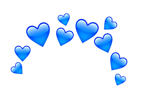 Popular And Trending Love Stickers On Picsart Blue Heart Emoji Heart Emoji Emoji Backgrounds