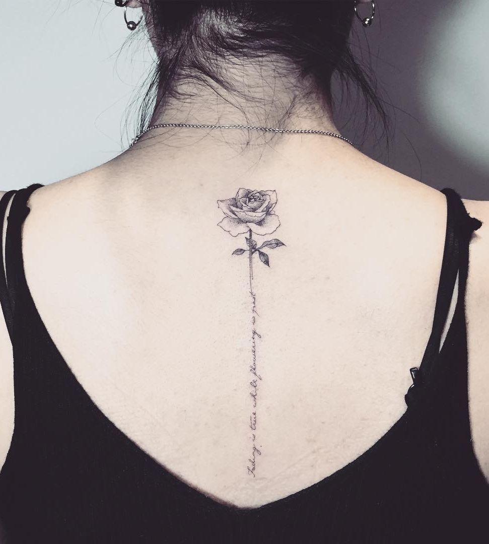 Spine Rose Tattoo Ideas C Tattoo Artist Cheri Lee Tattoos For Women Flowers Rose Tattoos For Women Rose Tattoo Design
