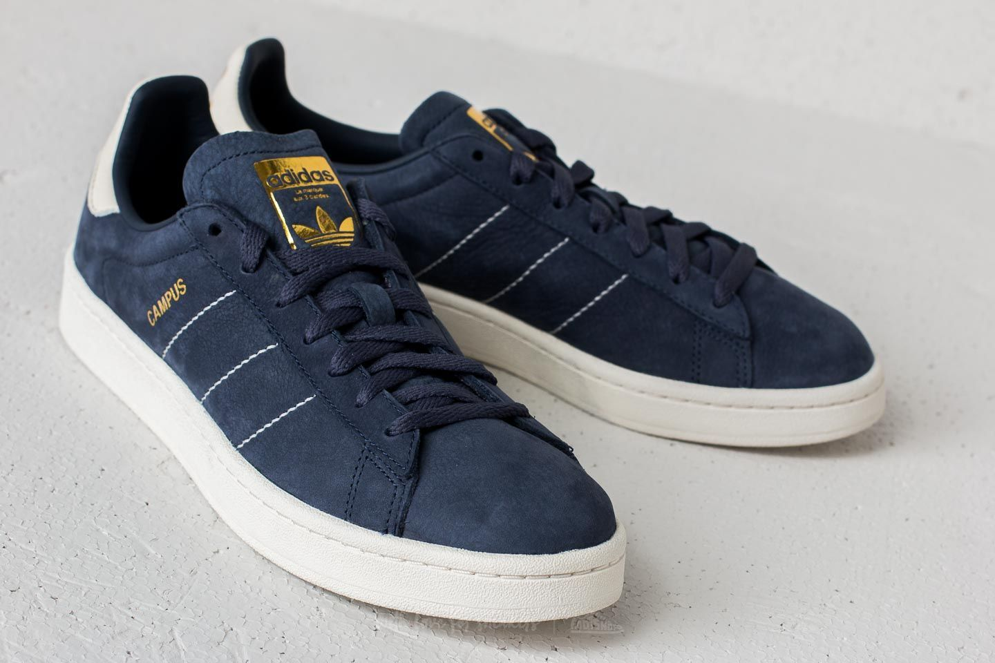 the latest e9dcf 994c0 adidas Campus  Trace Blue Chalk White Gold Metallic  117 € adidas