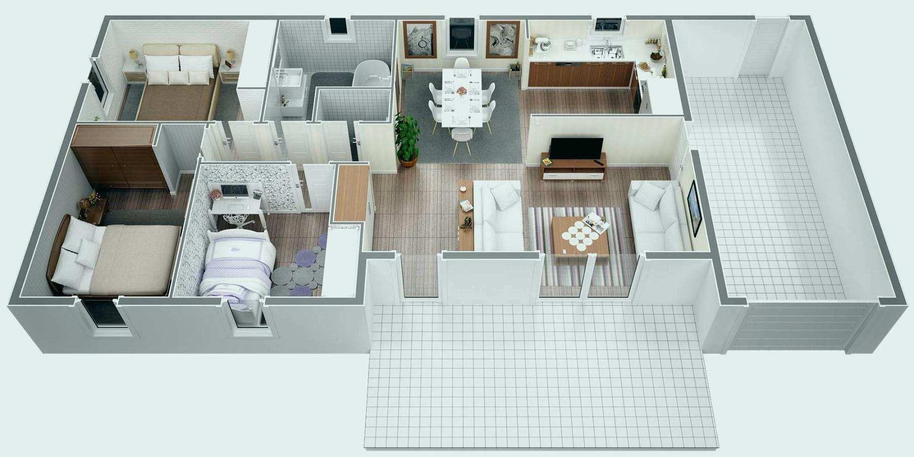 Plan Maison 80 M2 Plain Pied 120m2 Grand 80m2 2 Davidreed Co Image House Bedroom Design Home